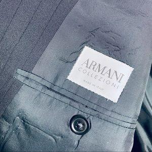 Armani Collezioni Black Mens Blazer, 44